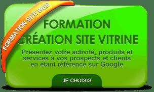 Formation création site web vitrine